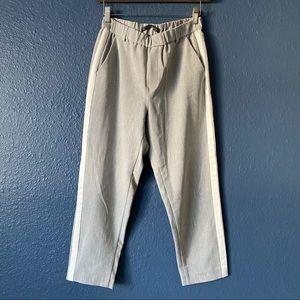 Zara Trafaluc Collection Pull On Gray Tuxedo Pants